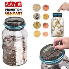 1.5L Spardose mit Zählwerk Elektronisch Euro Münzzähler Sparschwein Sparbüchse