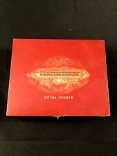 VINTAGE SANCHO PANZA RED WOOD CIGAR BOX EXTRA FUERTE CORDOBA
