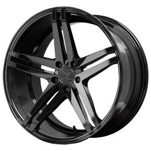 "4-NEW 19"" Inch Verde V39 Parallax 19x8.5 5x114.3 +38mm Gloss Black Wheels Rims"