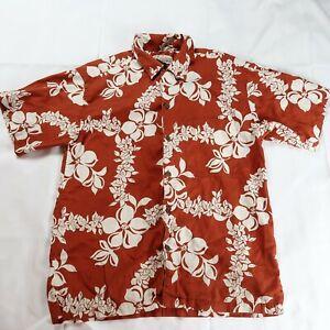 Pataloha Patagonia Men's Floral Hawaiian Shirt Size Medium Surfer Flowers Button