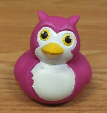 Unbranded Soft Plastic Pink Owl Rubber Duck Style Squeak Bath Toy *Read*
