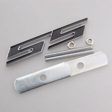 Bolt on 3D Metal Chrome black SS Front Emblem Badge  All Chevrolet Camaro GRILL
