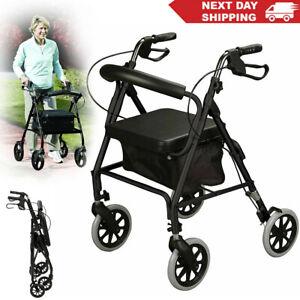Mobility Walker Upwalker lightweight rollator walker 4 wheel walking aid W/ Seat