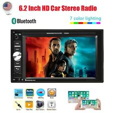 2Din Car Radio MP5 Player 6.2'' HD Touch Screen Bluetooth FM AUX IN USB SD US