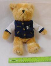 Milwaukee Brewers Teddy Bear w/ Coach Jacket Plush Stuffed Animal WI Baseball