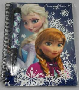 New Disney Frozen Elsa Anna Sisters Journal Notebook & Pen Set Autograph Book