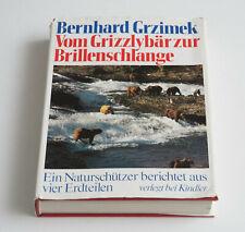 Vom Grizzlybär zur Brillenschlange, Grzimek, Kindler, 1979