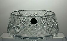 "GEORGIAN CRYSTAL ""CHATSWORTH"" CUT GLASS SERVING BOWL"