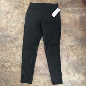 Popfit Leggings Size L Black Pop Fit 1010-10 Activewear Comfort Pockets Tapered
