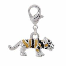Silver Plated Tiger Charm (Clip on) for Charm Bracelets