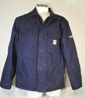 CARHARTT FR Blue Flame-Resistant Duck Traditional Jacket Coat Carhart  Sz L