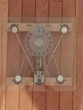 Vintage Bathroom Scale Glass Wood Thinner Crystal Industrial Mission Art Deco
