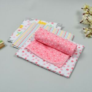 4 Pack Newborn Baby Flannel Receiving Blankets Soft  Cotton Boy Girl Blanket