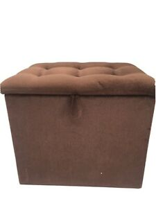 Velvet Ottoman With Storage Heavy Brown Perfect Condition Freestanding