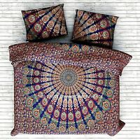 Hippie Mandala Housse Couette Couverture Indien Double de Set Literie