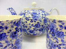 Tea for 2 in ditsy blue rose design by The Abbeydale collection.