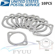 "10 Pcs Universal 3"" Silver Autos Exhaust Decat Pipe Flange Gasket USPS Shipping"