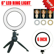 """6"""" LED Ring Light for Youtube Tiktok Makeup Video Live Phone Selfie with Stand"""