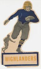 Rare 1927 HIGHLAND PARK SCOTTIES (Texas) HIGH SCHOOL Football Decal/Schedule