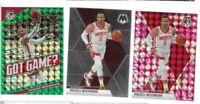 2019-20 Mosaic Russell Westbrook Pink + Green Prizm Lot x 3 Rockets