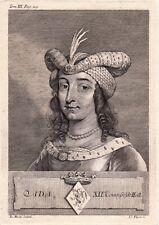 Portrait XVIIIe Ada De Hollande Ada Van Holland Traité De Bruges