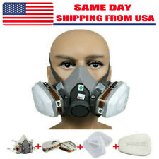 7in1 Half Face Gas Mask Facepiece Spray Painting Respirator Safety Suit For 6200