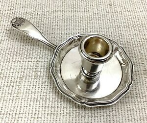 Christofle Chamber Candlestick Candle Holder Vendome Shell French Silver Plated