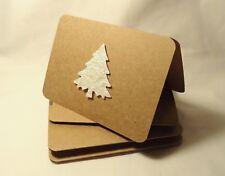 Kraft paper christmas cards. christmas tree cards. kraft paper. tree cards