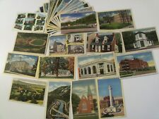 MARYLAND MD. 27 LINEN LOT PRE-WWII / WWII PICTURESQUE ROADSIDE AMERICANA #228