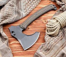 Rmj Tactical WeeZerker Camp Axe, 52100 Steel, Hyena Brown G-10 - Auth. Dealer