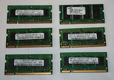 Samsung 512 mo (5x M470T6554CZ3-CD5 / CE6), 1x 256 mo mémoire sodimm (PC2100) mémoire ram