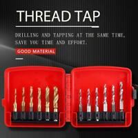 12pcs/Set M3-M10 Hex Shank HSS Screw Thread Tap Drill Bits Cutting Tool Durable