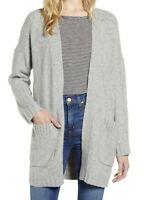 J Crew Womens Sz XL Gray Open Cardigan Sweater Supersoft Yarn Alpaca NWT $118