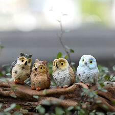 Miniature Fairy Owl Ornament Decor Pot DIY Craft Accessories Dollhouse