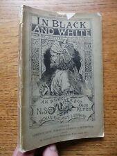 In Black & White C1890 Rudyard Kipling 1st Edition Indian Railway No3 Allahabad