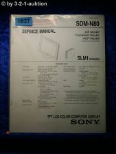 Sony Service Manual SDM N80 Computer Display (#5827)
