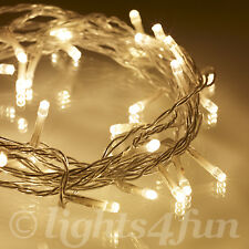 40 Warm White LED Indoor Xmas Bedroom Indoor Fairy String Lights On Clear Cable