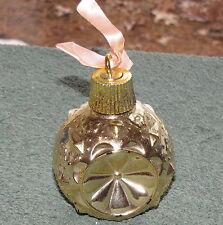 Vintage Avon Christmas Sparkler Ornament Gold 1968