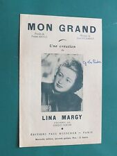 """Partition  Chant """"Mon grand"""" J. DELANNAY P. BAYLE Lina MARGY"""