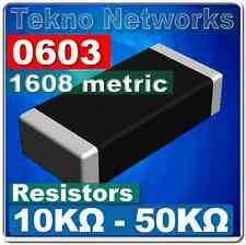 0603 1608 Metric Smd Smt Resistors 100pcs Range 10k 50k Ohm