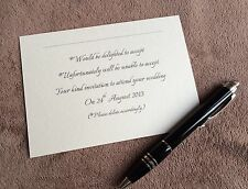10 x Personalised Wedding RSVP cards