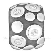 Lovelinks Bead Sterling Silver,9 Silver CZ's & Silver Dots Charm Jewelry TT127CZ