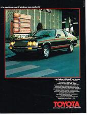 PUBLICITE  1978   TOYOTA  LA CELICA LIFTBACK coupé