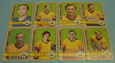 8 DIFFERENT 1972 - 73 LOS ANGELES KINGS TOPPS HOCKEY CARDS