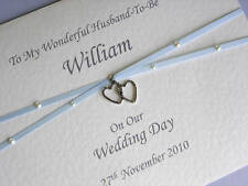 Personalised Card For Husband To Be On Our Wedding Day