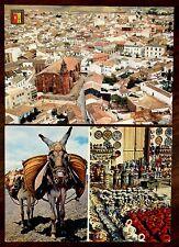 BAILEN SPAIN AIR VIEW & ARTESANIA LOCAL ESPANA TIPICA Donkeys 2 Postcards