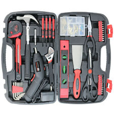 143 pcs Household Tools Set Wth Storage Case Home Repair Tool Kit Cordless Drill