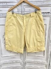 Butter Yellow Plus Size 16 18 COLDWATER CREEK Cuffed Cargo Shorts Convertible