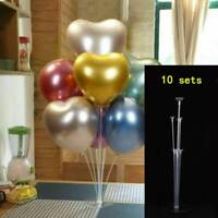10 Sets Clear Balloon Column Base Balloons Stand Sticks Wedding Party Decor 70cm