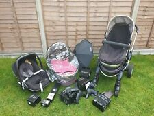 Icandy Peach 2 Full Set and Extras (double pram) + 2 Car Seats (1 isofix)
